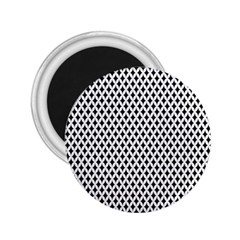 Diamond Black White Shape Abstract 2.25  Magnets
