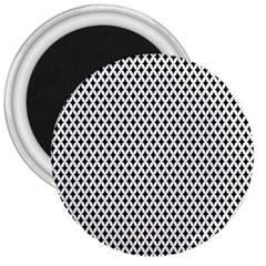 Diamond Black White Shape Abstract 3  Magnets