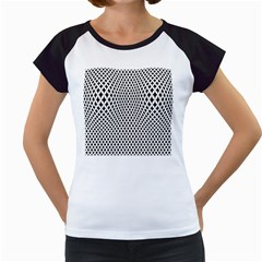 Diamond Black White Shape Abstract Women s Cap Sleeve T