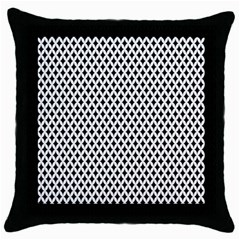 Diamond Black White Shape Abstract Throw Pillow Case (Black)
