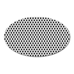 Diamond Black White Shape Abstract Oval Magnet