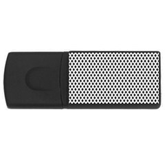 Diamond Black White Shape Abstract USB Flash Drive Rectangular (2 GB)