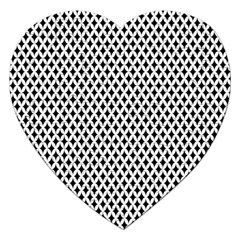 Diamond Black White Shape Abstract Jigsaw Puzzle (Heart)