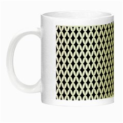 Diamond Black White Shape Abstract Night Luminous Mugs