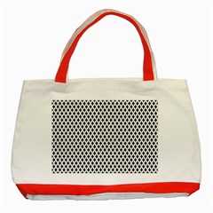 Diamond Black White Shape Abstract Classic Tote Bag (Red)