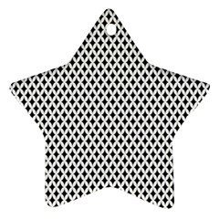 Diamond Black White Shape Abstract Star Ornament (Two Sides)