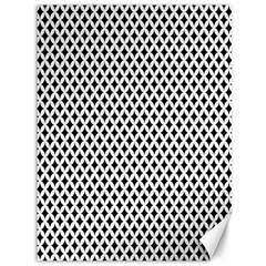 Diamond Black White Shape Abstract Canvas 36  x 48