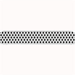 Diamond Black White Shape Abstract Small Bar Mats