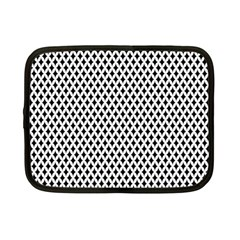 Diamond Black White Shape Abstract Netbook Case (Small)