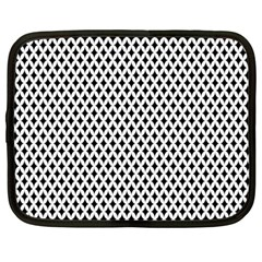 Diamond Black White Shape Abstract Netbook Case (Large)