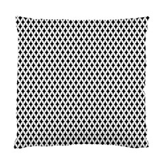 Diamond Black White Shape Abstract Standard Cushion Case (Two Sides)