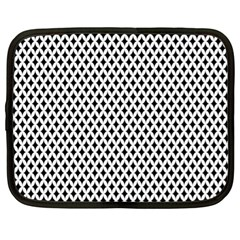 Diamond Black White Shape Abstract Netbook Case (XL)