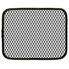 Diamond Black White Shape Abstract Netbook Case (XXL)