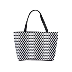 Diamond Black White Shape Abstract Shoulder Handbags