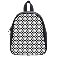 Diamond Black White Shape Abstract School Bags (Small)