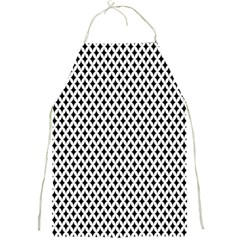 Diamond Black White Shape Abstract Full Print Aprons