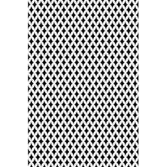 Diamond Black White Shape Abstract 5.5  x 8.5  Notebooks