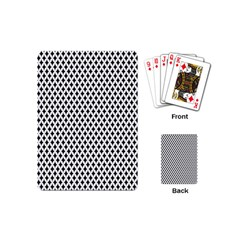 Diamond Black White Shape Abstract Playing Cards (Mini)