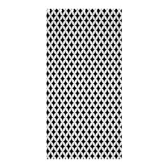 Diamond Black White Shape Abstract Shower Curtain 36  x 72  (Stall)