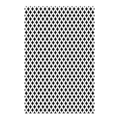 Diamond Black White Shape Abstract Shower Curtain 48  x 72  (Small)