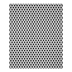 Diamond Black White Shape Abstract Shower Curtain 60  x 72  (Medium)