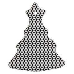Diamond Black White Shape Abstract Ornament (Christmas Tree)