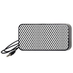 Diamond Black White Shape Abstract Portable Speaker (Black)