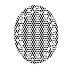 Diamond Black White Shape Abstract Ornament (Oval Filigree)