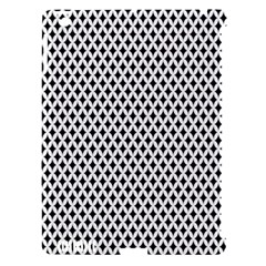 Diamond Black White Shape Abstract Apple iPad 3/4 Hardshell Case (Compatible with Smart Cover)