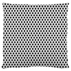 Diamond Black White Shape Abstract Large Cushion Case (Two Sides)
