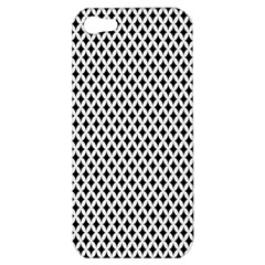 Diamond Black White Shape Abstract Apple iPhone 5 Hardshell Case