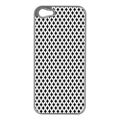Diamond Black White Shape Abstract Apple iPhone 5 Case (Silver)