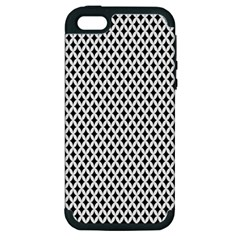Diamond Black White Shape Abstract Apple iPhone 5 Hardshell Case (PC+Silicone)