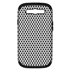 Diamond Black White Shape Abstract Samsung Galaxy S III Hardshell Case (PC+Silicone)