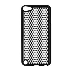 Diamond Black White Shape Abstract Apple iPod Touch 5 Case (Black)