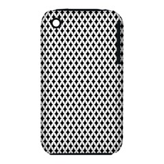 Diamond Black White Shape Abstract iPhone 3S/3GS