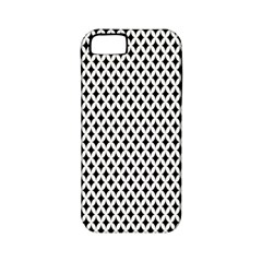 Diamond Black White Shape Abstract Apple iPhone 5 Classic Hardshell Case (PC+Silicone)