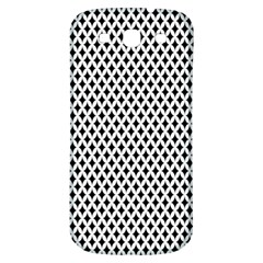 Diamond Black White Shape Abstract Samsung Galaxy S3 S III Classic Hardshell Back Case