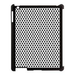 Diamond Black White Shape Abstract Apple iPad 3/4 Case (Black)