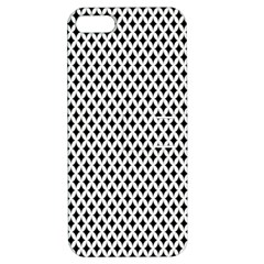 Diamond Black White Shape Abstract Apple iPhone 5 Hardshell Case with Stand