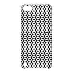 Diamond Black White Shape Abstract Apple iPod Touch 5 Hardshell Case with Stand