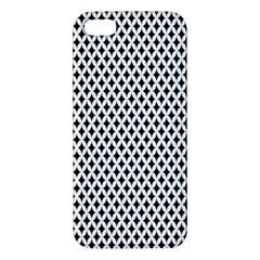 Diamond Black White Shape Abstract Apple iPhone 5 Premium Hardshell Case