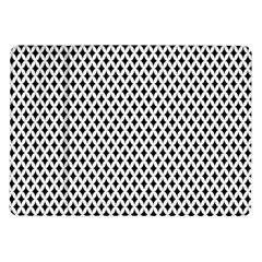 Diamond Black White Shape Abstract Samsung Galaxy Tab 10.1  P7500 Flip Case