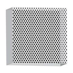 Diamond Black White Shape Abstract 5  x 5  Acrylic Photo Blocks