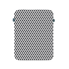Diamond Black White Shape Abstract Apple iPad 2/3/4 Protective Soft Cases
