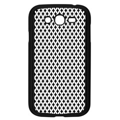 Diamond Black White Shape Abstract Samsung Galaxy Grand DUOS I9082 Case (Black)