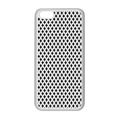 Diamond Black White Shape Abstract Apple iPhone 5C Seamless Case (White)