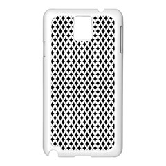 Diamond Black White Shape Abstract Samsung Galaxy Note 3 N9005 Case (White)