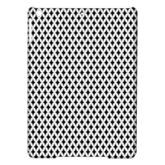 Diamond Black White Shape Abstract iPad Air Hardshell Cases