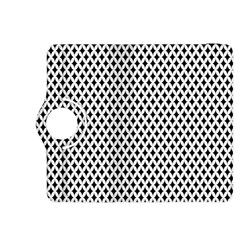 Diamond Black White Shape Abstract Kindle Fire HDX 8.9  Flip 360 Case